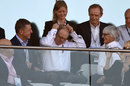 Vladimir Putin and Bernie Ecclestone in the grandstand