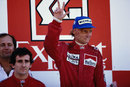 1984 champion Niki Lauda on the podium