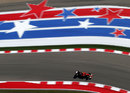 Kimi Raikkonen attacks the COTA circuit