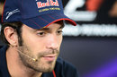 Jean-Eric Vergne talks to the media in Thursday's press conference