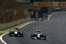 Nico Rosberg overtakes Nico Hulkenberg