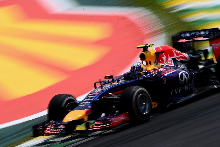 Red Bull's Daniel Ricciardo puts his foot down