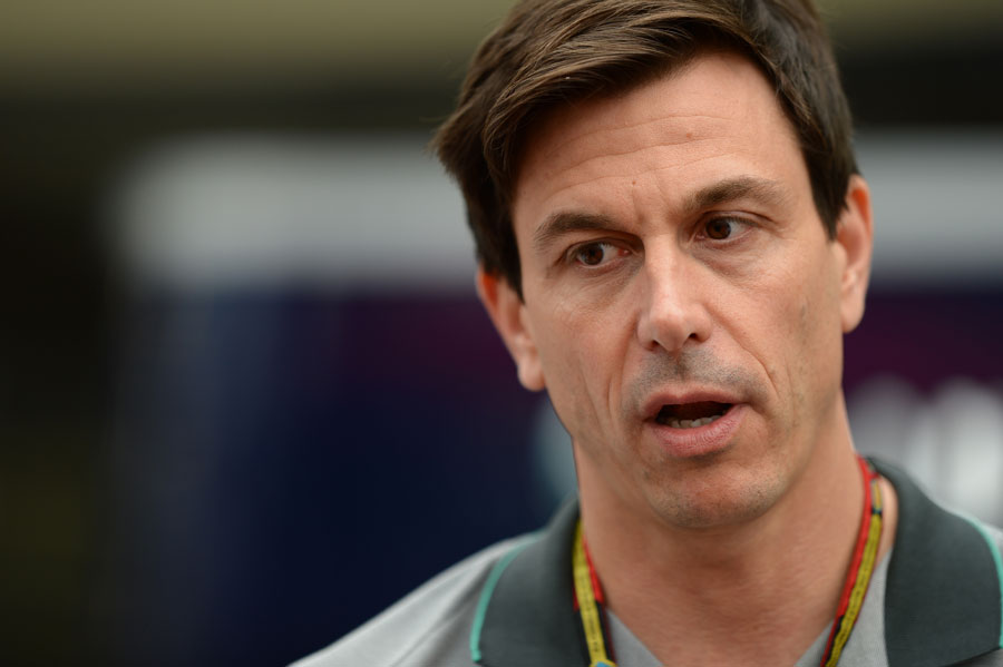 Toto Wolff in the paddock