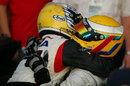 Nico Rosberg congratulates race-winner Lewis Hamilton
