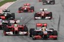 Lewis Hamilton passes Felipe Massa