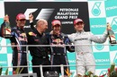 The Malaysian Grand Prix podium