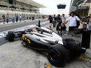 Stoffel Vandoorne heads out in the McLaren-Honda