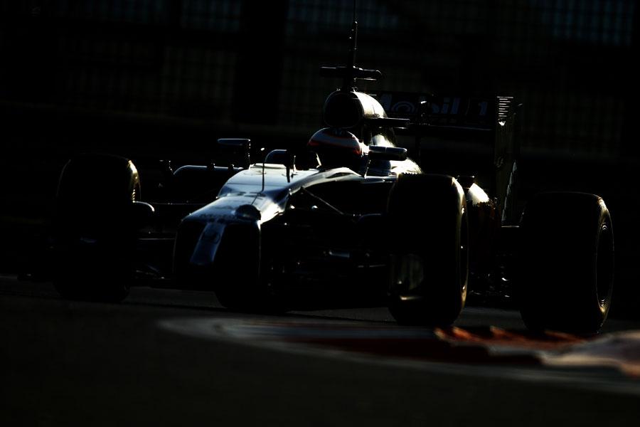 A rare sighting of the McLaren-Honda on track