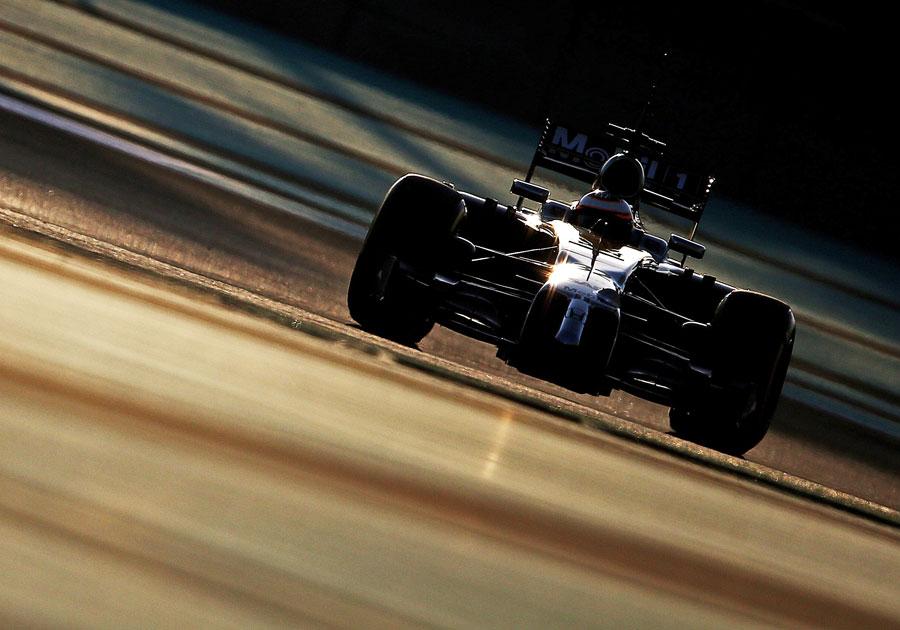 Stoffel Vandoorne puts some mileage on the new Honda powerunit