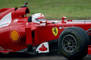 Sebastian Vettel behind the wheel of a 2012 Ferrari at Fiorano