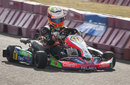 Sergio Perez gets behind the wheel of a go-kart in his native Mexico
