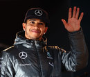 Lewis Hamilton waves to the crowd