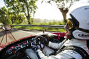 Daniel Ricciardo drives an Alfa Romeo on the Targa Florio for a Red Bull promotion