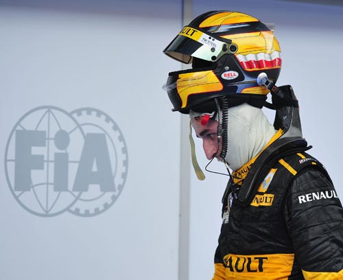Robert Kubica after his fourth place finish