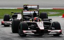 Karun Chandhok leads team-mate Bruno Senna