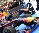 Red Bull Racing cars in parc ferme