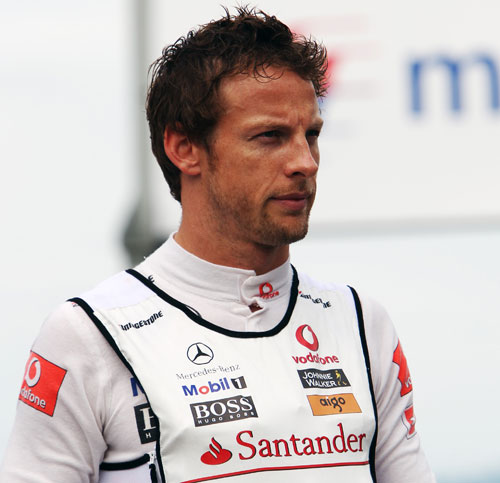 Jenson Button in the paddock after the race