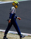 Ayrton Senna walks away from his first corner accident