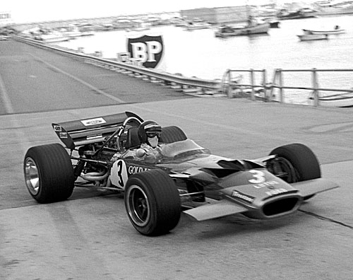 Jochen Rindt only led for 400 yards but it was enough to win the race