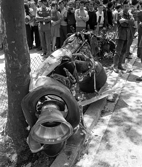 The Wreckage Of Jochen Rindt S Lotus Formula 1 Photos
