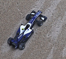 The Williams of Nico Hulkenberg in the gravel