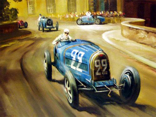 Rene Dreyfus in his Bugatti Type 35B