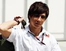 Kamui Kobayashi in the Sepang paddock