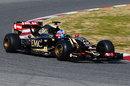 Jolyon Palmer puts the Lotus E23 through its paces