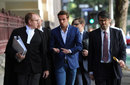 Giedo van der Garde leaves court after winning his case against Sauber