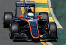 Kevin Magnussen on track in the McLaren