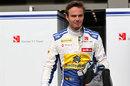 Giedo van der Garde wearing Marcus Ericsson's Sauber race suit