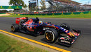 Carlos Sainz and his Toro Rosso approach the penultimate corner