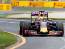 Daniel Ricciardo behind the wheel of the Red Bull in qualifying