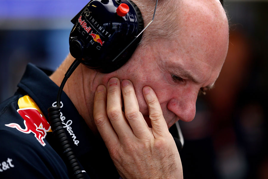 Adrian Newey in the Red Bull garage
