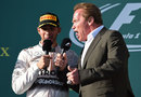 Lewis Hamilton and Arnold Schwarzenegger deliver a line of