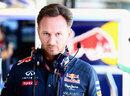 Christian Horner in the Red Bull garage