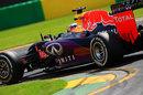 Daniel Ricciardo behind the wheel of the Red Bull