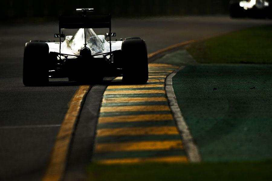 Nico Rosberg chases Lewis Hamilton