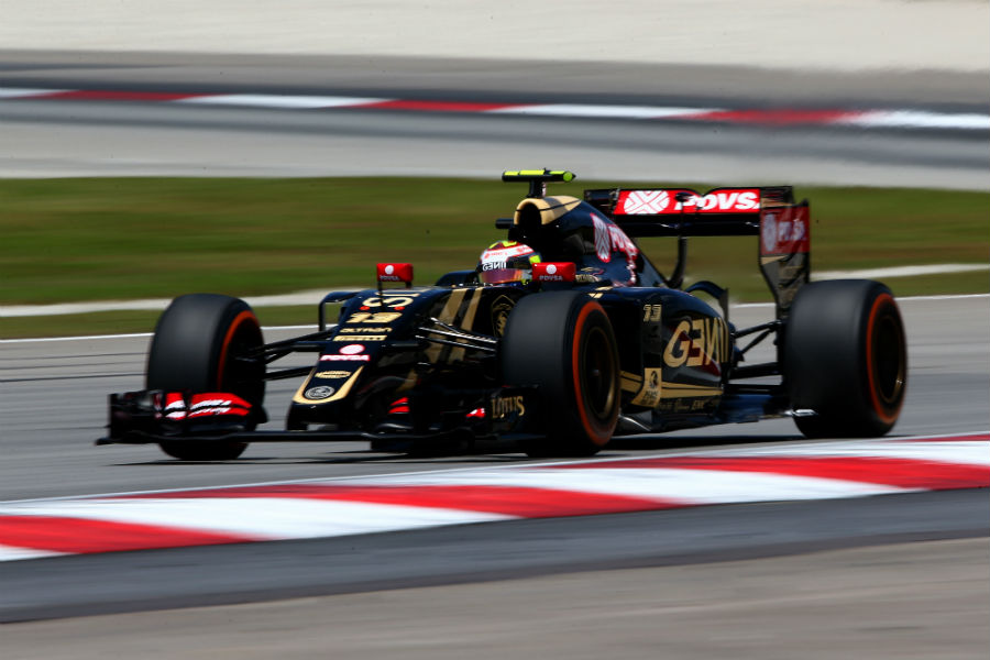 Pastor Maldonado on track for Lotus