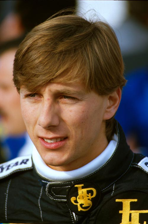 Lotus driver Johnny Dumfries in 1986
