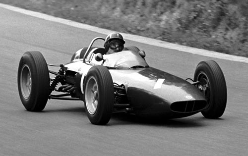 Graham Hill in action for BRM at the 1962 Belgian Grand Prix