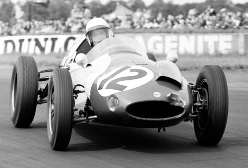 Tony Brooks drives his Cooper at the 1960 British Grand Prix