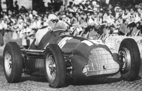 Nino Farina in his Alfa Romeo at the Swiss Grand Prix