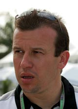 Olivier Panis as Toyota's test driver in 2005