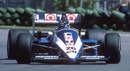 Ligier driver Jacques Laffite takes seventh place at the 1986 Canadian Grand Prix