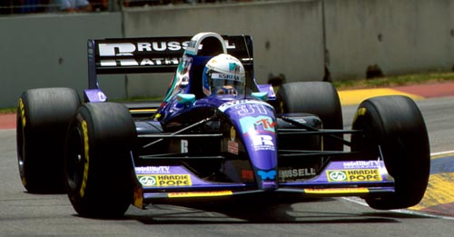 Simtek driver David Brabham at the 1994 Australian Grand Prix