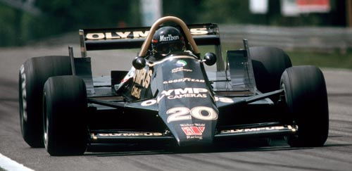Wolf's James Hunt in action at the 1979 Belgian Grand Prix
