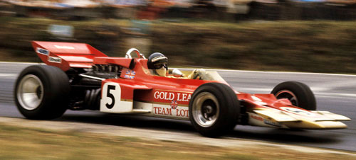 Jochen Rindt on his way to his third successive win at the British GP