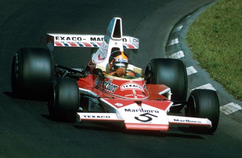 Emerson Fittipaldi wins his second title at the 1974 US Grand Prix