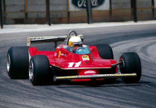 Jody Scheckter in action for Ferrari